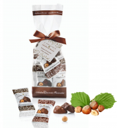 Шоколадные конфеты с цельным фундуком «Четыре орешка» в пакете 160гр ANTICA TORRONERIA PIEMONTESE