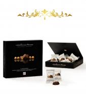 Шоколадные конфеты с цельным фундуком «Четыре орешка»  Черная упаковка 150гр