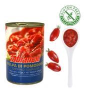 Томатный соус Fabianelli Без глютена. 400 гр помидорная мякоть кубиками без семян и кожуры