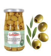 Зеленые оливки МЕДИА без косточек Coelsanus 350гр БЕЗ ГЛЮТЕНА