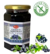 Джем из черники, 60% ягод ,FACCI 350гр, без глютена с кусочками целых ягод.