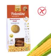 Печенье сливочное кукурузное Полентини  БИО, без глютена. 180 гр Solomais