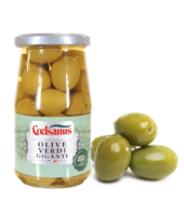 Зеленые оливки ГИГАНТСКИЕ с косточкой Coelsanus 350гр БЕЗ ГЛЮТЕНА