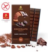Темный шоколад экстра LINEA C, 100гр, 72% натуральное какао, БЕЗ ГЛЮТЕНА. БЕЗ ПАЛЬМОВОГО МАСЛА