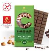 Молочный шоколад с фундуком LINEA C, 100гр, 32% натуральное какао, БЕЗ ГЛЮТЕНА.